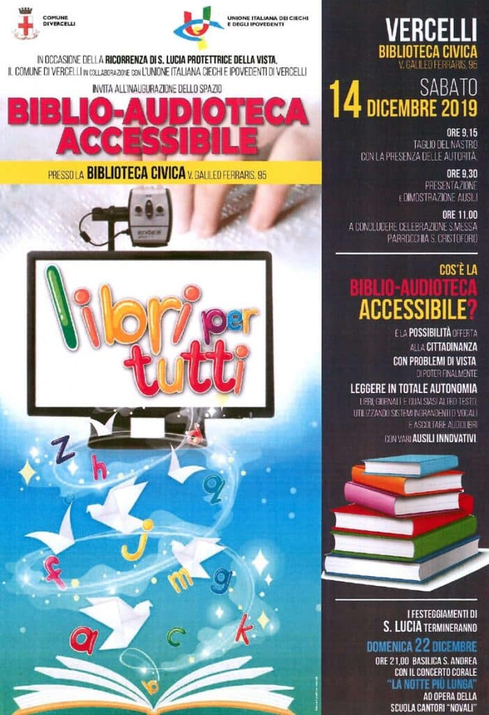 Inaugurazione Biblio-Audioteca accessibile